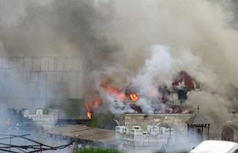 Diriliş Ertuğrul dizisinin çekildiği fabrikada yangın çıktı