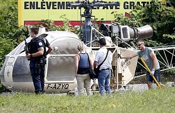 Fransa'da mahkum cezaevinden helikopterle firar etti