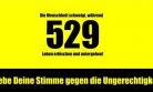''529 Todesstrafen mit Unterschriften stoppen!''