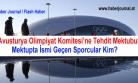 ''Avusturya Olimpiyat Komitesi'ne Tehdit Mektubu''