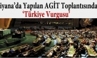 ''BM'den AGİT toplantısında 'Türkiye' vurgusu''