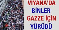 'Viyana'da Binlerce Kişi Gazze İçin Yürüdü'