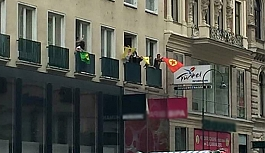 PKK yandaşları, Viyana'da...