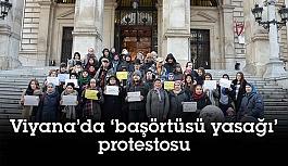 Viyana'da başörtüsü yasağı protestosuna...