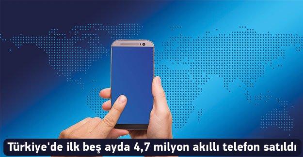 Türkiye'de ilk beş ayda 4,7 milyon akıllı telefon satıldı