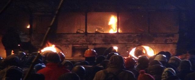 ''Ukrayna'da göstericiler polisle çatıştı''