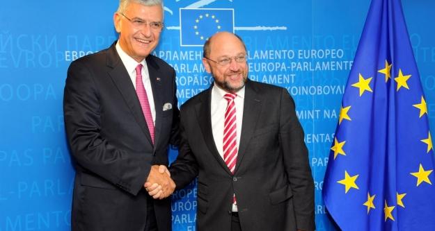 Volkan Bozkır, AP Başkanı Martin Schulz...
