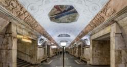 Güzelliğiyle göz kamaştıran Moskova metrosu