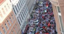 42 karede Viyana'da 'Tarihi Gazze' yürüyüşü