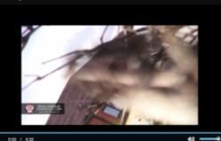 Füze kameranın önüne böyle düştü (Video)