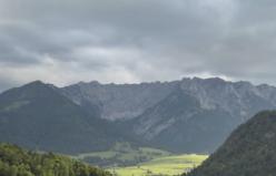 Avusturya dağlarının muhteşem görüntüsü