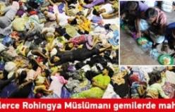Binlerce Rohingya Müslümanı gemilerde mahsur