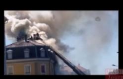 Fransa'da 3 Türk'ün Hayatını Kaybettiği Yangın Böyle Görüntülendi