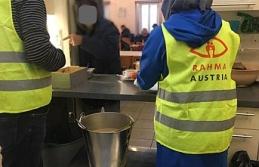 Rahma Austria'dan evsizlere sıcak yemek