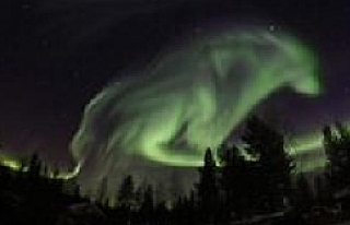 Sosyal medya bu görüntüyü konuşuyor! Kuzey ışıkları...
