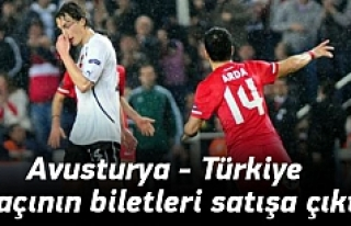 Avusturya - Türkiye maçının biletleri satışa...