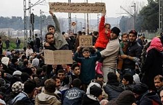 Sığınmacıların Makedonya-Yunanistan sınırındaki...