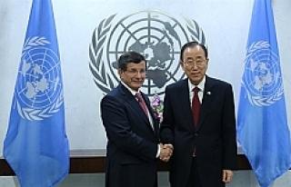 Başbakan Davutoğlu Ban ile görüşecek
