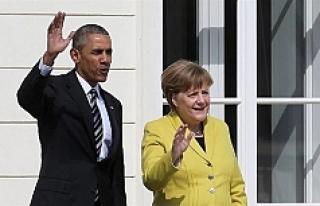 Obama Merkel bir araya geldi