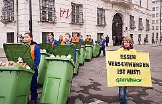 Viyana'da 'Gıda İsrafına' karşı...