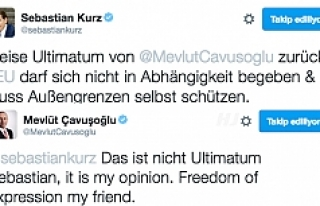 Çavuşoğlu'ndan Kurz'a imalı cevap: 'Düşünce...