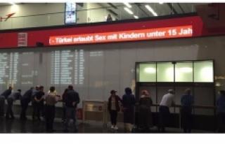 Viyana havalimanındaki ahlaksız 'Türkiye'...