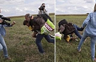 Tekme atan Macar kameramana ödül!