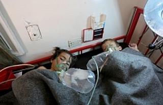 Esed rejimi çoğu çocuk 100 kişiyi kimyasal gazla...