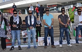 Viyana'da Filistinli tutukluların açlık grevine...