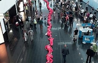 Viyana Havalimanında Protesto
