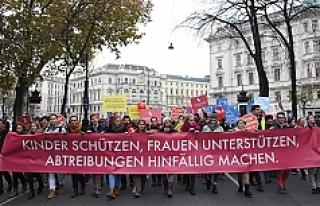 Viyana'da 'kürtaj' karşıtı gösteri