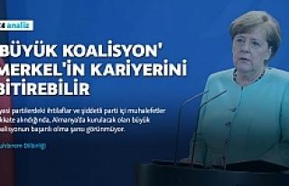 """""""Büyük koalisyon"""" Merkel'in kariyerini..."""