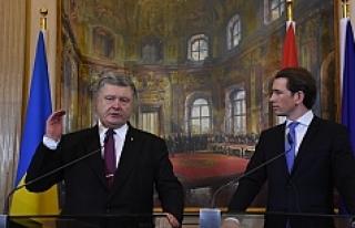 Viyana'da Poroşenko-Kurz görüşmesi