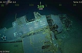 2. Dünya Savaşında batırılan ABD gemisinin enkazı...