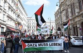 "Viyana'da İsrail'in ""Gazze"" katliamına..."