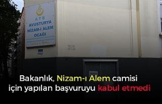 Bakanlık, Nizam-ı Alem camisi için yapılan başvuruyu...