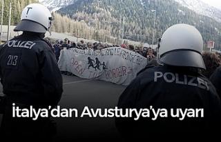 """Avusturya'nın """"sınır siyaseti"""" tepki..."""
