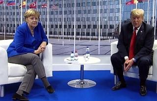 Trump ve Merkel Brüksel'de görüştü