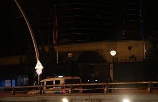 Avusturya'nın Ankara Büyükelçiliği önünde...
