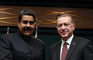 Erdoğan'dan Maduro'ya destek telefonu:...
