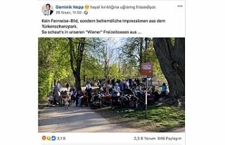 """Viyana'daki Türk Parkında """"başörtülü..."""