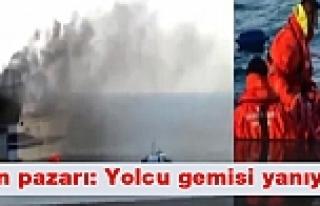 Adriyatik'te can pazarı: Yolcu gemisi yanıyor!