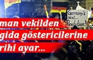 Alman vekilden PEGIDA göstericilerine tarihi ayar:...