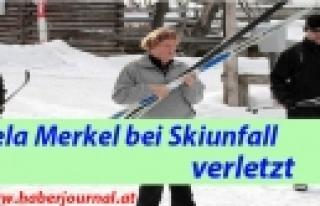 ''Angela Merkel bei Skiunfall verletzt''