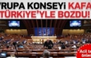 ''Avrupa Konseyi kafayı Türkiye ile bozdu''
