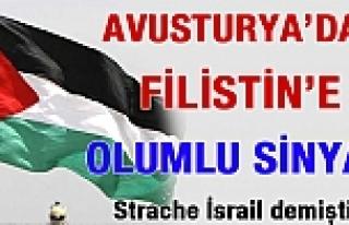 Avusturya'da Filistin'in orta vadede tanınabileceğinin...