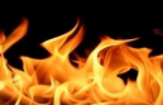 ''Evinde yanarak can verdi!''