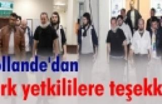 'Hollande'dan Türk yetkililere teşekkür'