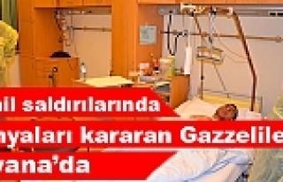 İsrail saldırılarında yaralanan Gazzeliler Viyana'da