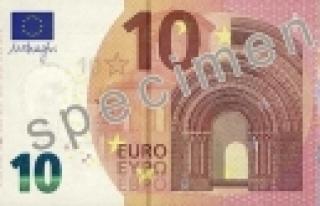 ''İşte yeni 10 Euro'luk banknotlar''